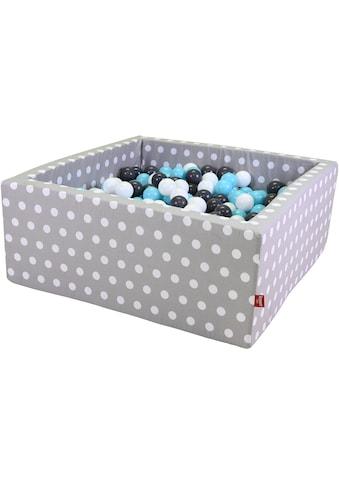 Knorrtoys® Bällebad »Soft, Grey white dots«, mit 100 Bällen creme/grey/lightblue; Made... kaufen