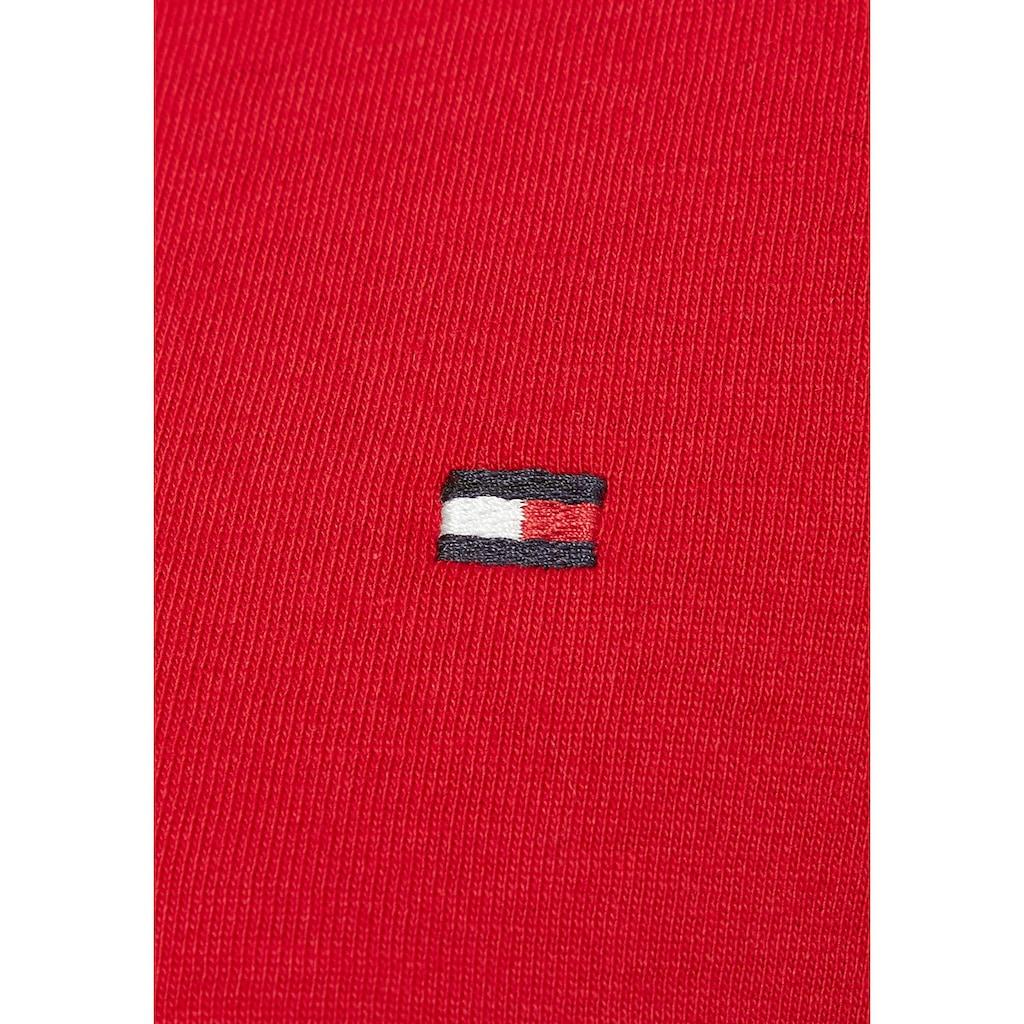 Tommy Hilfiger Rundhalsshirt »NEW CREW NECK TEE«, mit Tommy Hilfiger Logo-Flag auf der Brust