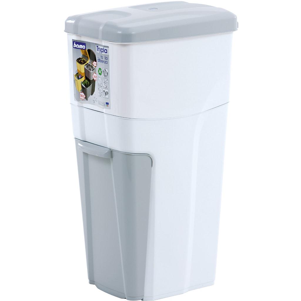 Bischof Bama Mülleimer »Trypla«, Dreifach-Mülltrennung