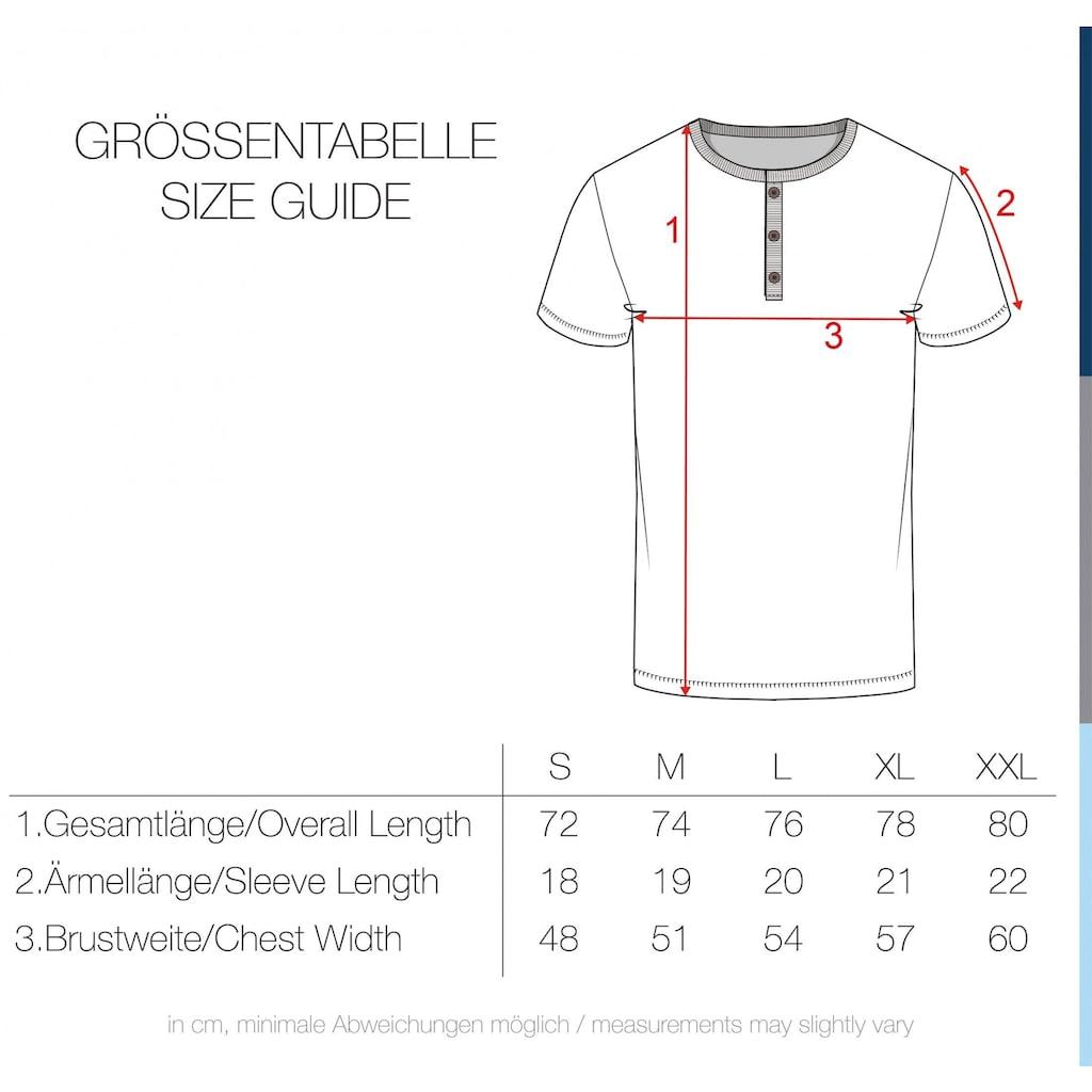 Solid Rundhalsshirt »Telia«, Kurzarmshirt mit Knopfleiste