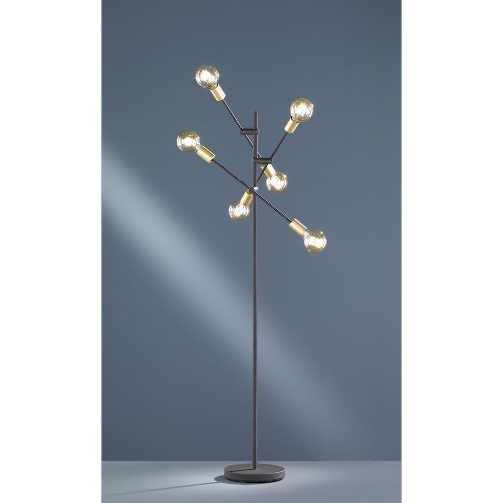 TRIO Leuchten Stehlampe »Cross«, E27, Fussschalter,schwenkbar, Leuchtmittel tauschbar