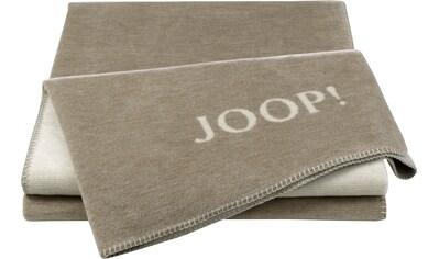 Joop! Wohndecke »JOOP! MELANGE-DOUBLEFACE«, mit elegantem Kornblumen-Verlauf kaufen