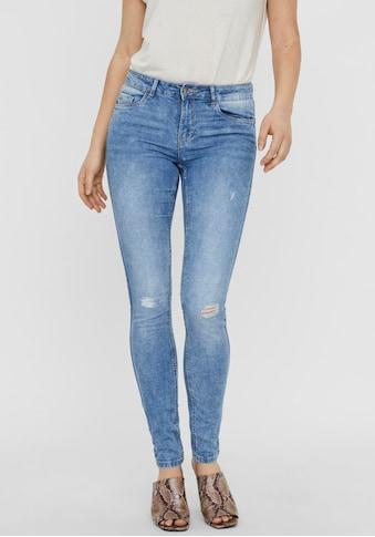 Vero Moda Skinny - fit - Jeans »VMSEVEN SHAPE UP DESTROYED« kaufen