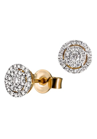 goldmaid Paar Ohrstecker 585/ -  Gelbgold 58 Brillanten 0,32 ct. P2/H kaufen