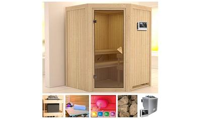 KONIFERA Sauna »Arja«, 151x151x198 cm, 9 kW Bio - Ofen mit ext. Steuerung kaufen