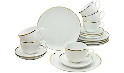 Guido Maria Kretschmer Home&Living Kaffeeservice »Golden Line«, (Set, 18 tlg.),... kaufen