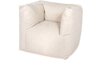 OUTBAG Sitzsack »Valley Canvas washed«, wetterfest, für den Außenbereich, BxT: 90x60 cm kaufen