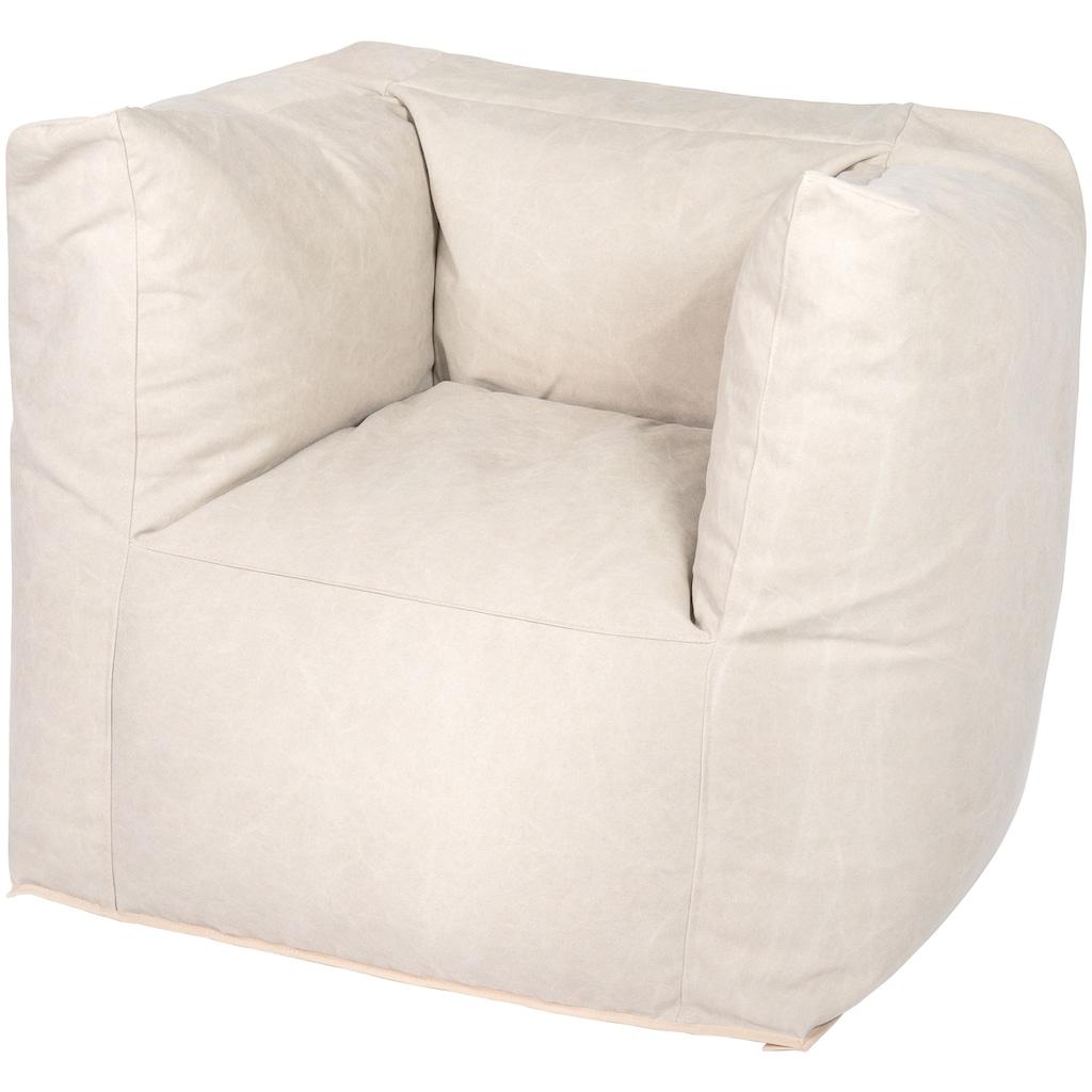 OUTBAG Sitzsack »Valley Canvas washed«, wetterfest, für den Außenbereich, BxT: 90x60 cm