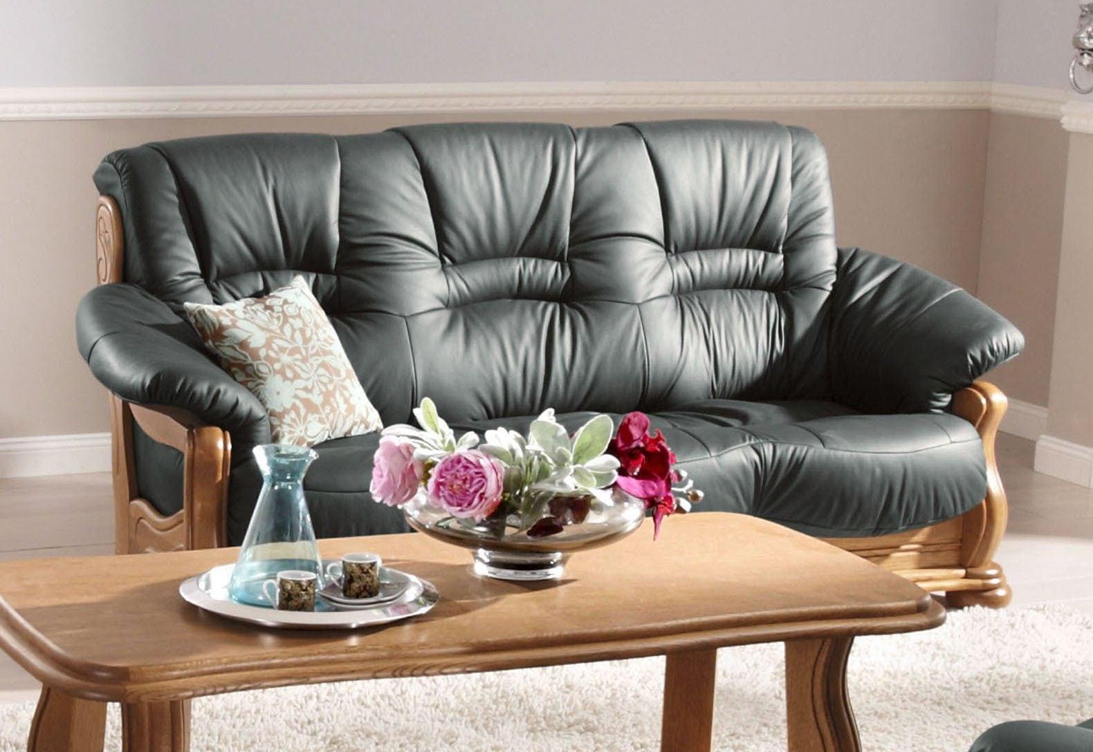 Max Winzer 3-Sitzer Sofa Texas mit dekorativem Holzgestell Breite 202 cm