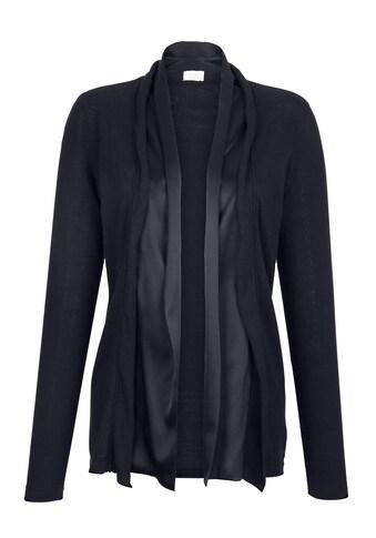 Alba Moda Strickjacke mit glänzendem Webeinsatz kaufen