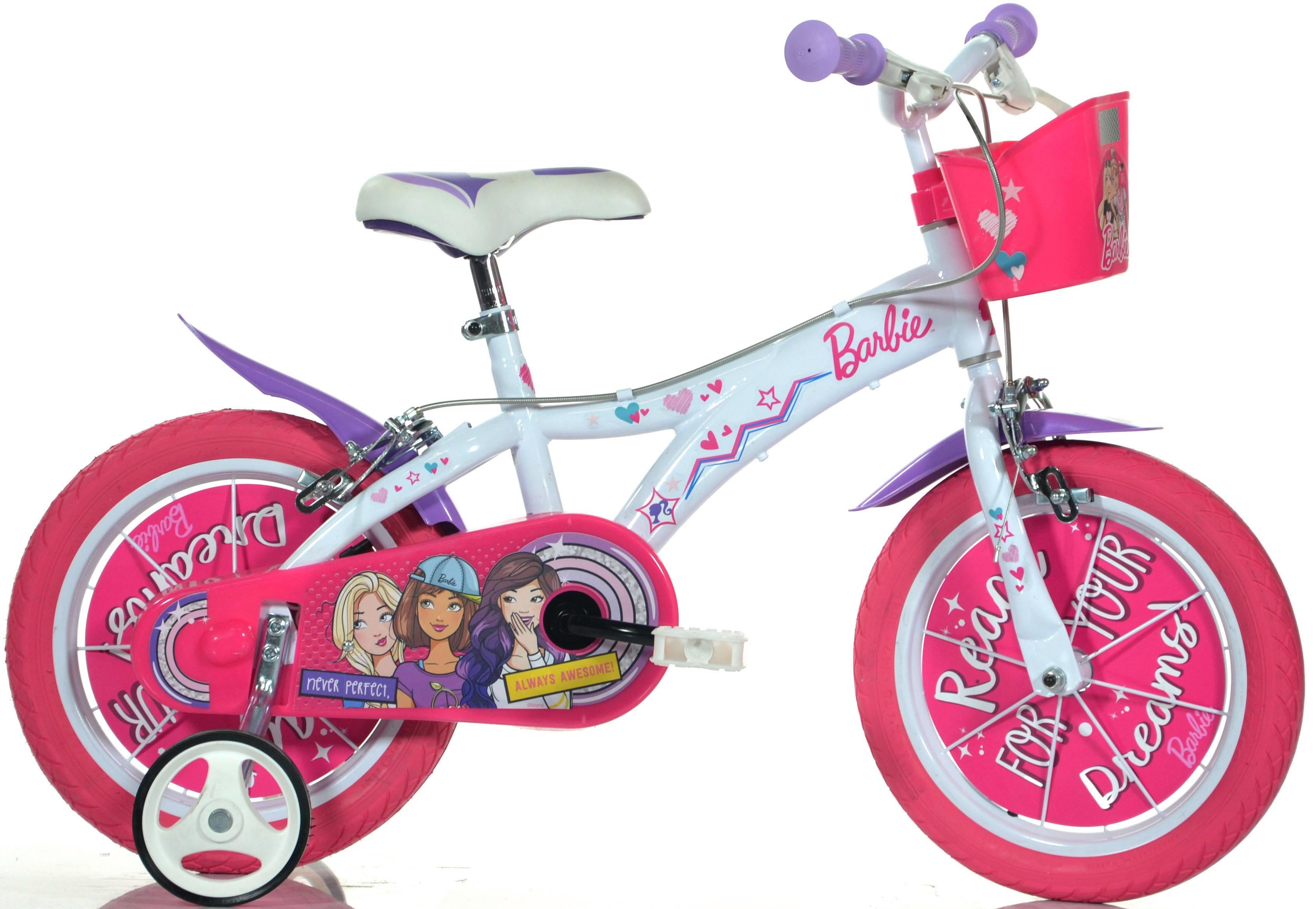 Barbie Kinderfahrrad weiß Kinder Kinderfahrräder Fahrräder Zubehör