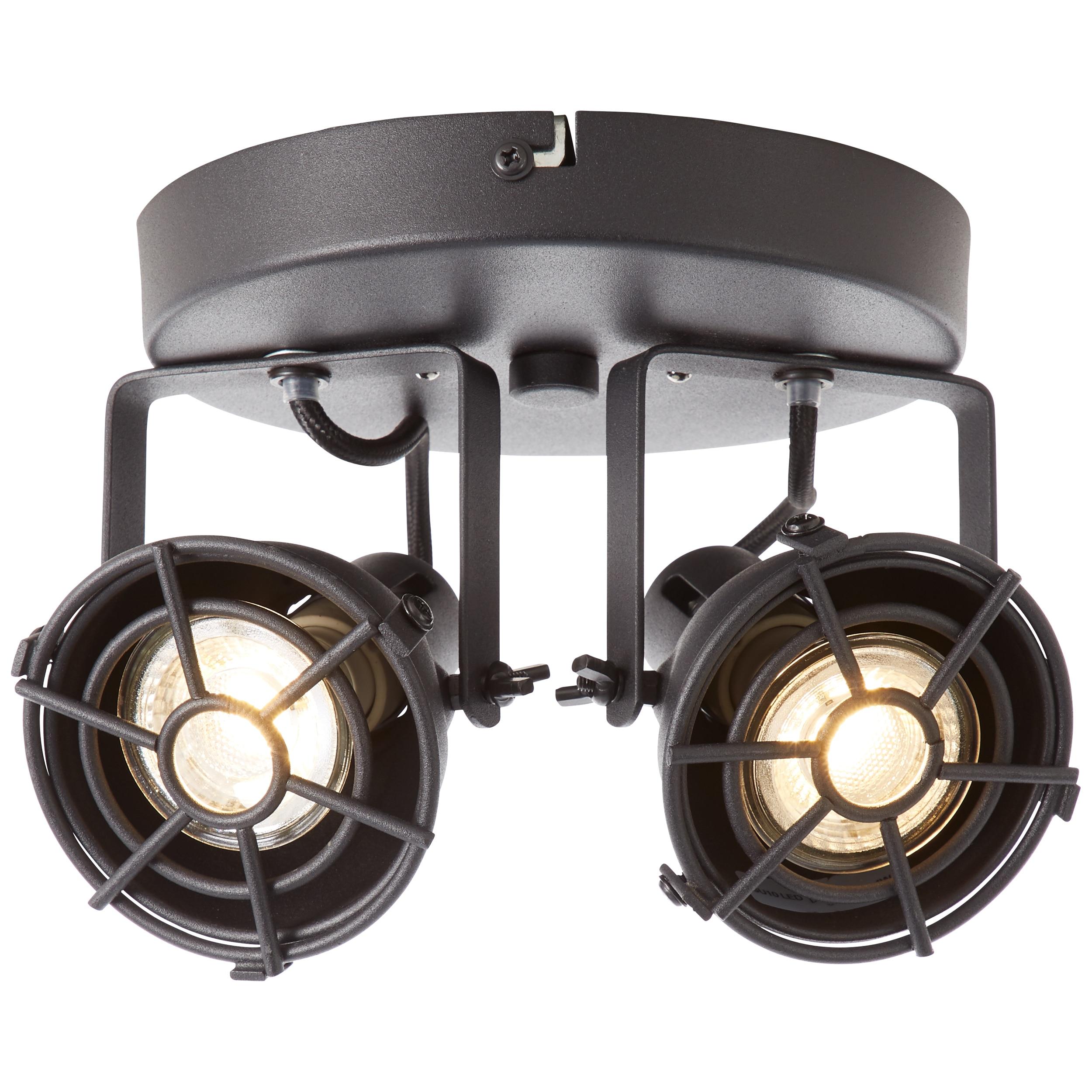 Brilliant Leuchten Jesper LED Spotrondell 2flg schwarz korund