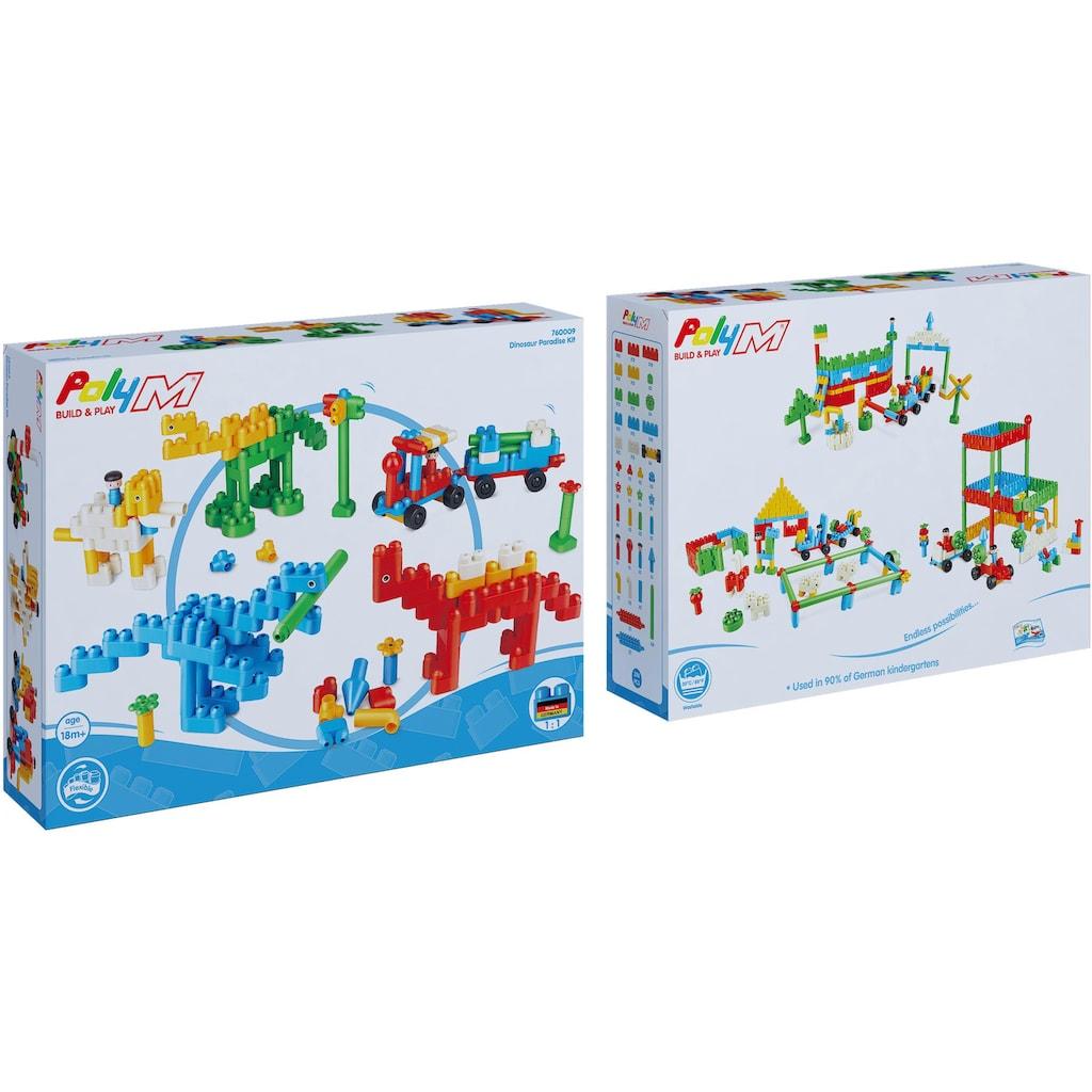 PolyM Konstruktions-Spielset »Dinosaurier-Paradies«, (200 St.)