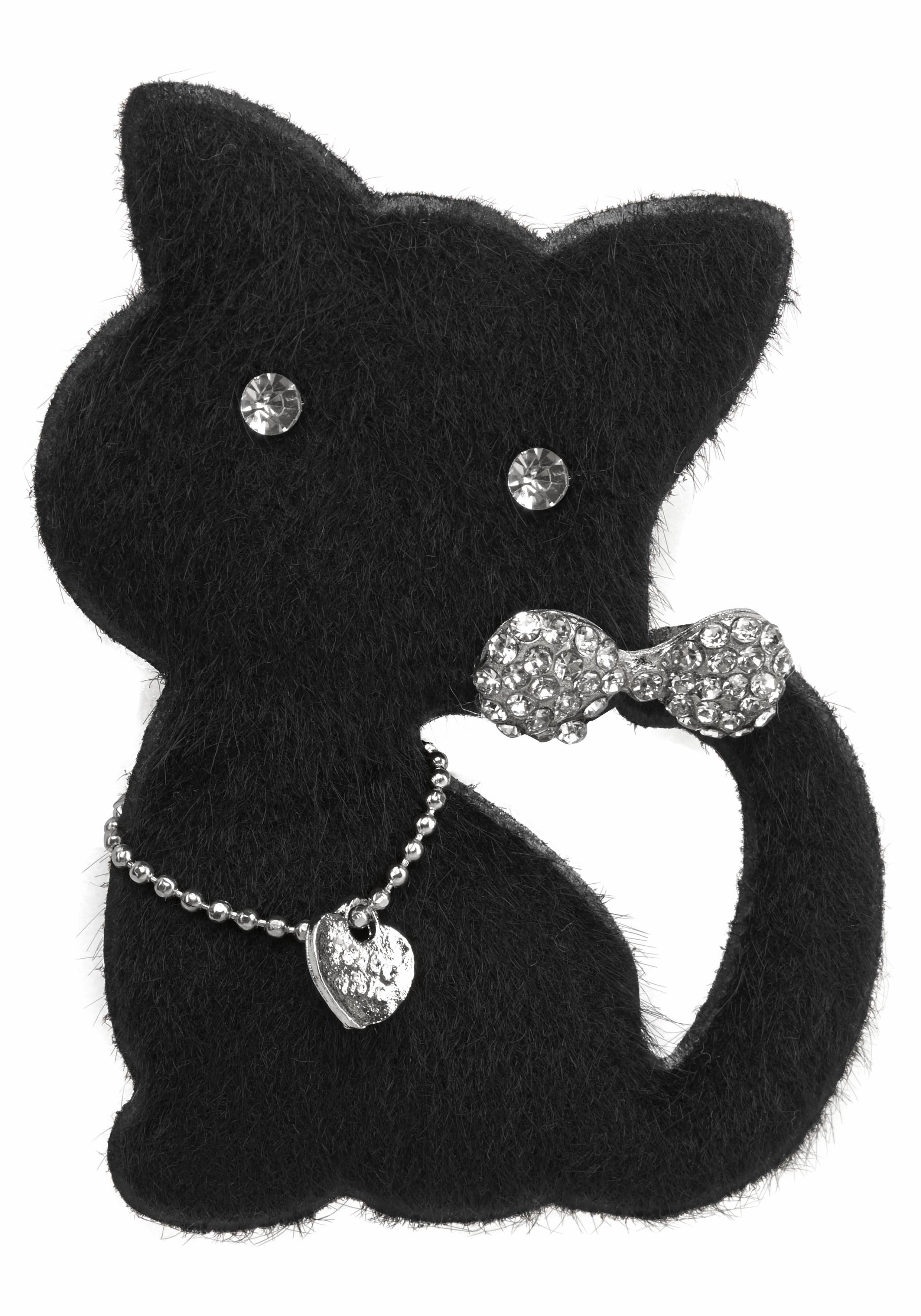 JJayz Brosche Katze mit Anstecknadel