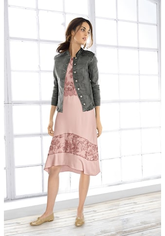 Jerseykleid mit hochwertigen Spitzendetails kaufen