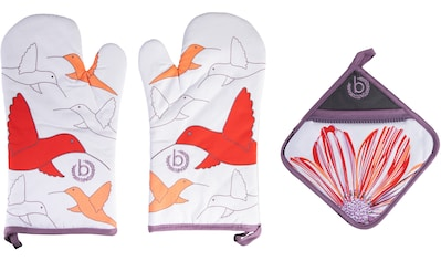 bugatti Topfhandschuhe »Zip & Surprise«, (Set, 3 tlg., bestehend aus 2x Ofenhandschuh,... kaufen