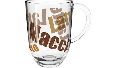 LEONARDO Latte-Macchiato-Glas »NAPOLI«, (Set, 6 tlg.), 380 ml, 3farbiges Glas kaufen