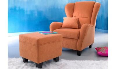 Home affaire Sessel »Oliver«, inklusive Hocker, Microfaser kaufen