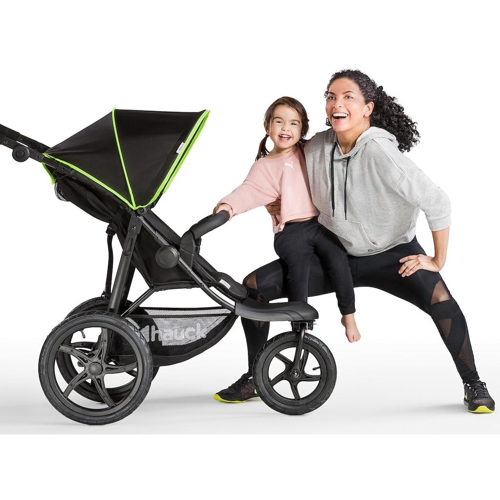 Hauck Dreirad-Kinderwagen »Runner Black/Neon Yellow«, mit schwenk- und feststellbarem Vorderrad; Kinderwagen, Jogger, Dreiradwagen, Jogger-Kinderwagen, Dreiradkinderwagen