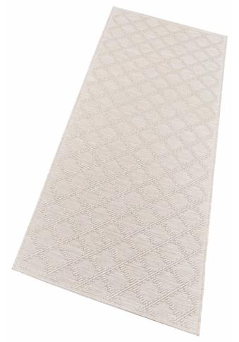 freundin Home Collection Läufer »Dawn«, rechteckig, 4 mm Höhe, Flachgewebe, Hoch-Tief-Struktur, In- und Outdoor geeignet kaufen