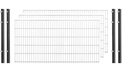 ARVOTEC Set: Doppelstabmattenzaun 123 cm hoch, 3 Matten für 6 m, 4 Pfosten kaufen