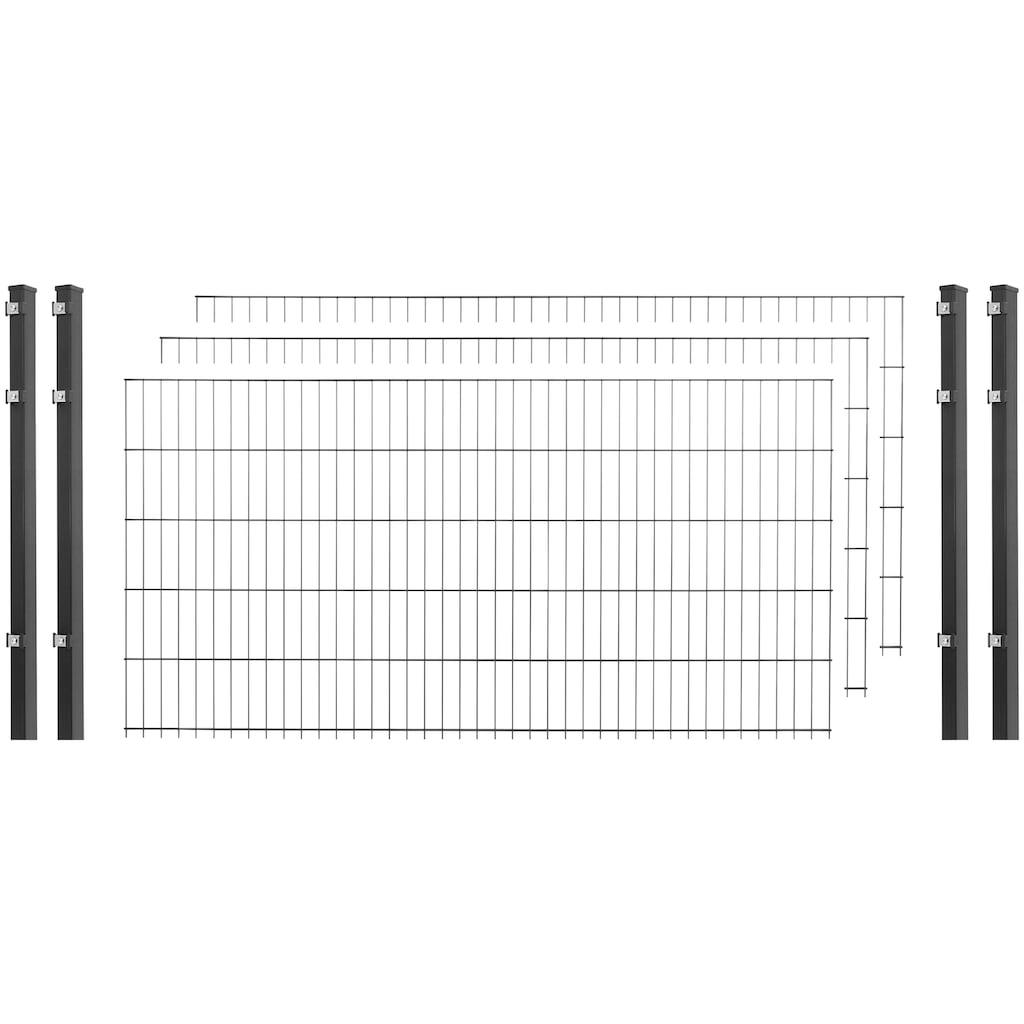 ARVOTEC Set: Einstabmattenzaun 103 cm hoch, 3 Matten für 6 m, 4 Pfosten