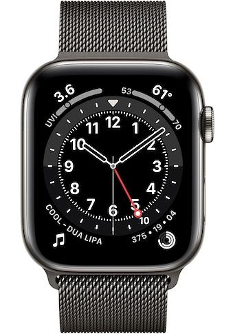 Apple Series 6 GPS + Cellular, Edelstahlgehäuse mit Milanaise Armband 44mm Watch (Watch OS) kaufen