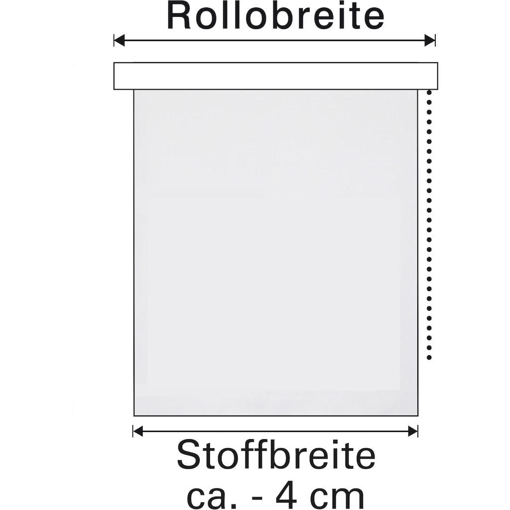 GARDINIA Doppelrollo »de luxe«, transparent, Sichtschutz, ohne Bohren, freihängend, mit Metallkette und Edelstahlträger
