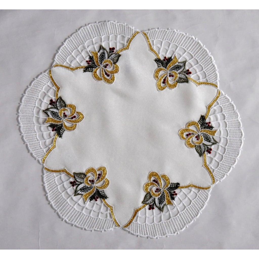 Stickereien Plauen Tischdecke »Glockenzauber«, rund