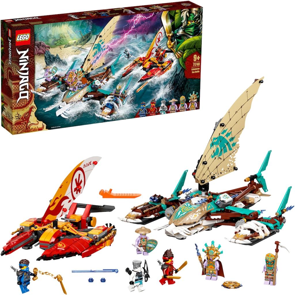 LEGO® Konstruktionsspielsteine »Duell der Katamarane (71748), LEGO® NINJAGO®«, (780 St.), Made in Europe