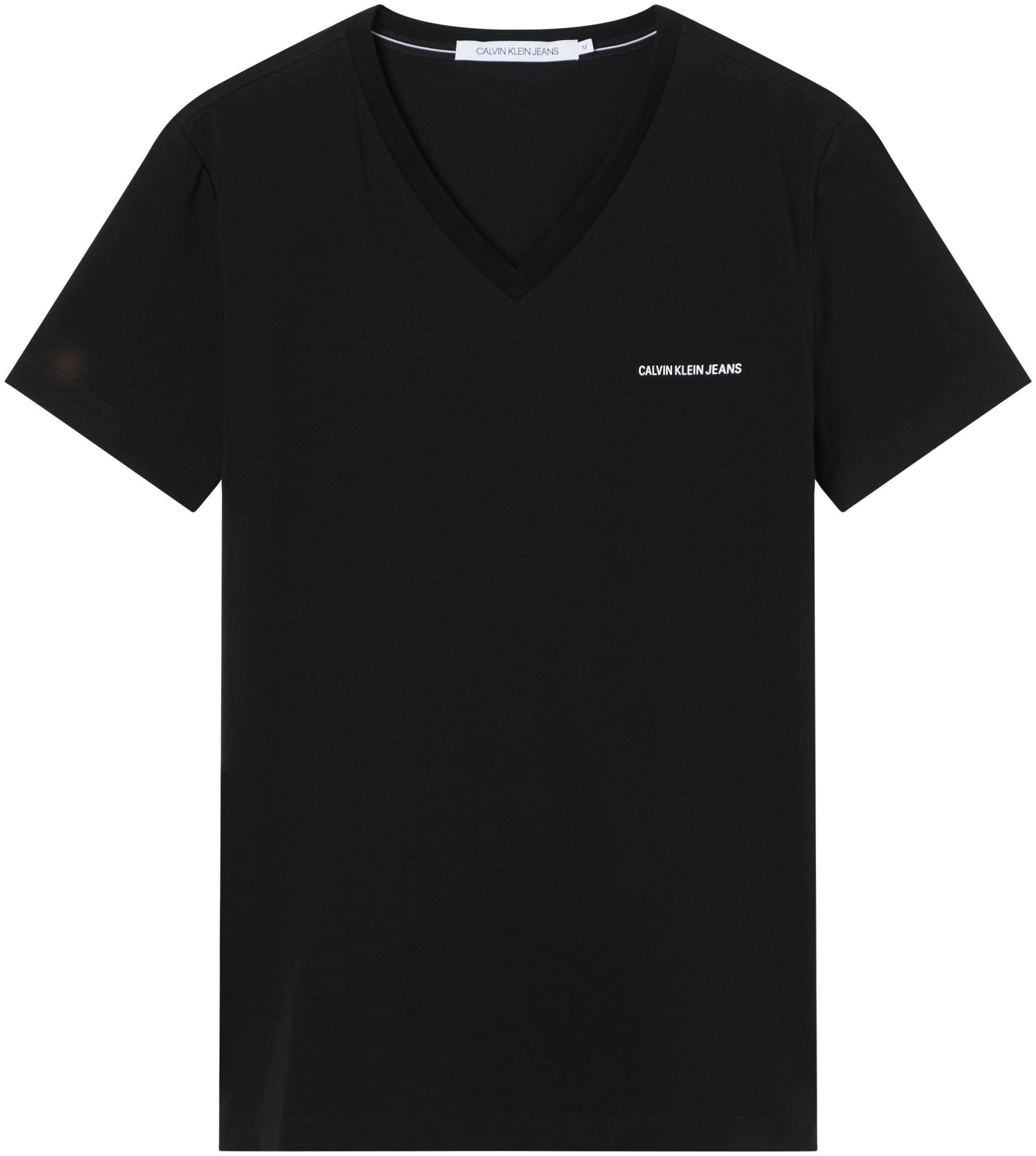 calvin klein jeans -  T-Shirt MICRO BRANDING SLIM V-NECK TEE
