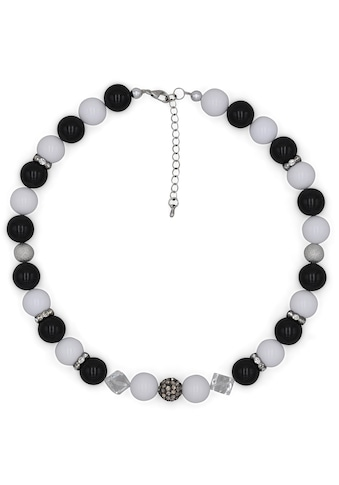 J.Jayz Collier »Perlenkette im schwarz - weiß Trend«, mit Kunststoffperlen und... kaufen