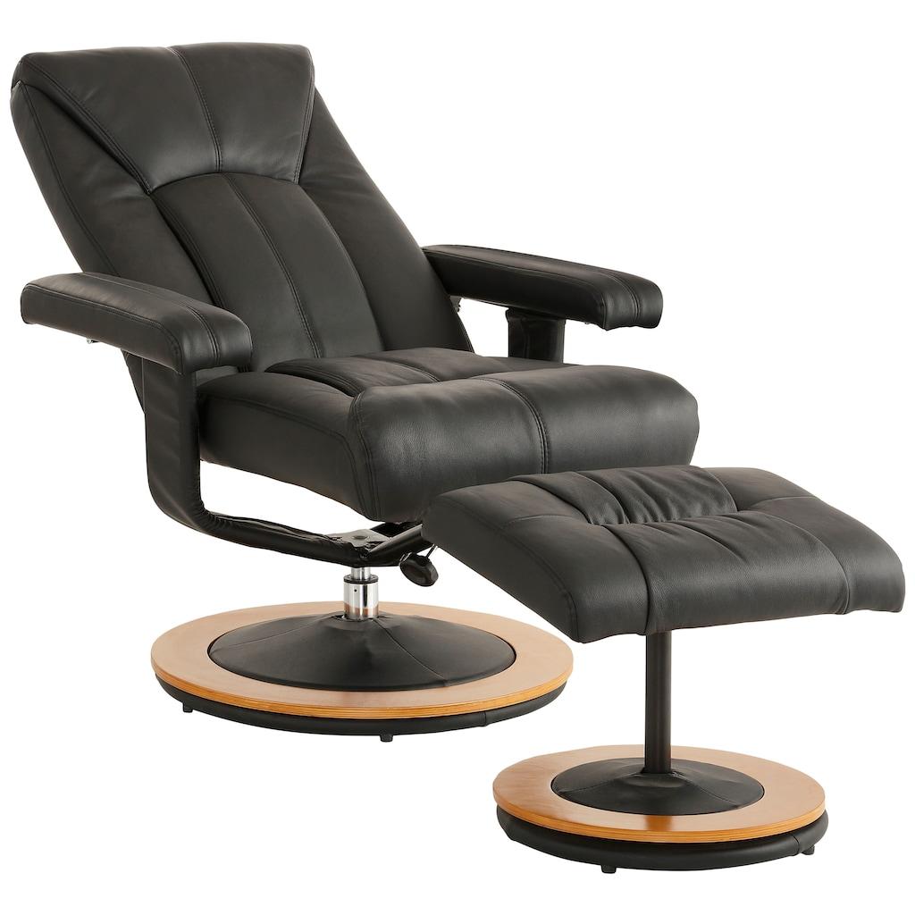 DELAVITA Relaxsessel »Colmar«, mit Hocker in 3 Bezugsqualitäten