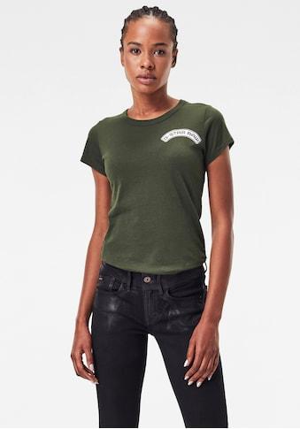 G - Star RAW Rundhalsshirt »Arch logo gr slim r t« kaufen