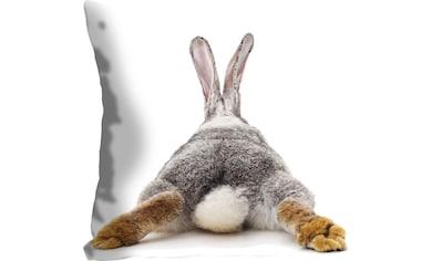queence Kissenhülle »Rabbit Tail«, (1 St.), mit einem Hasenschwanz kaufen