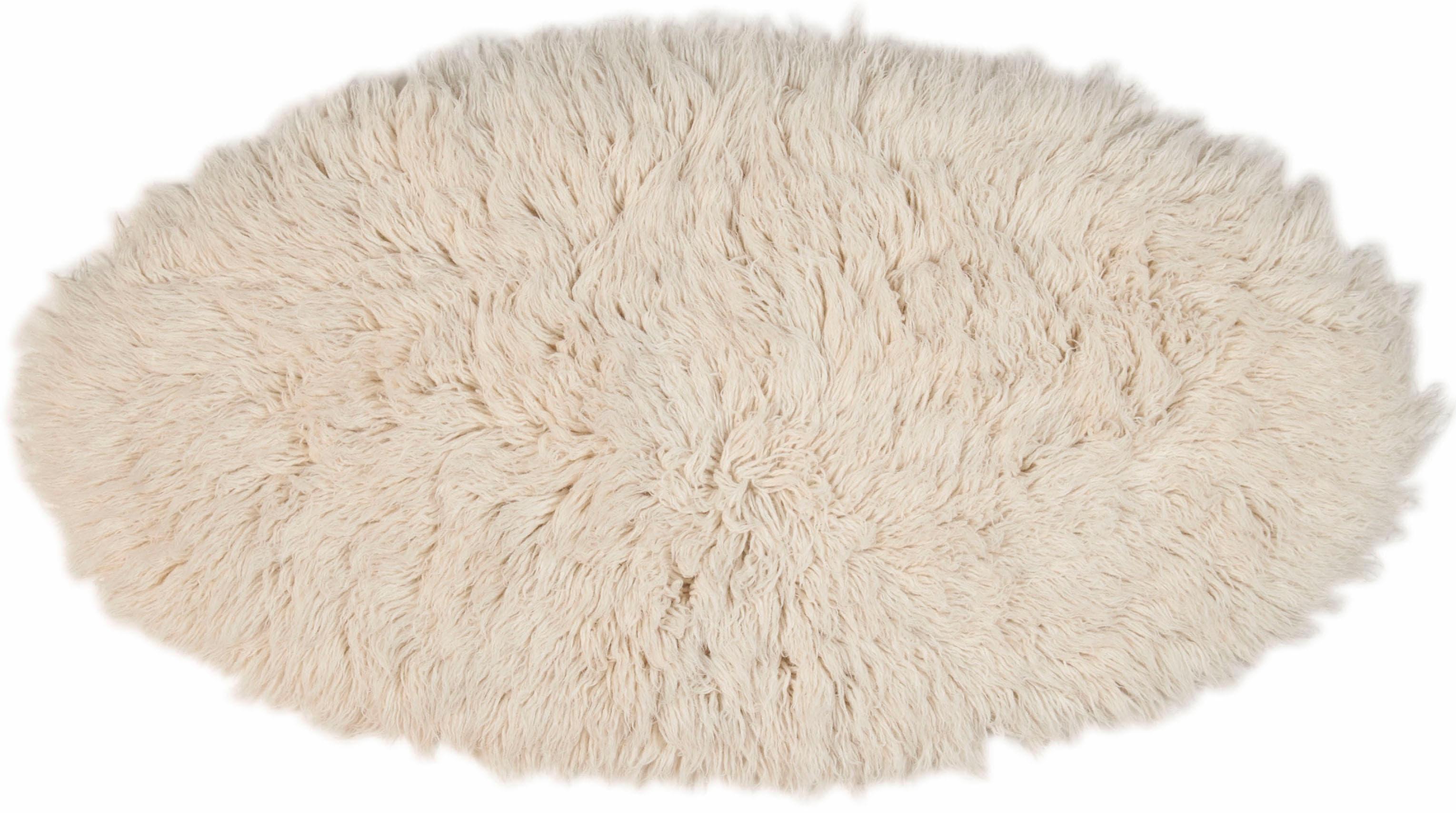 Hochflor-Teppich Flokos 2 Theko Exklusiv oval Höhe 61 mm handgewebt