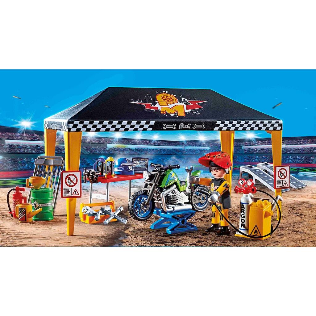 Playmobil® Konstruktions-Spielset »Werkstattzelt (70552), Stuntshow«, (49 St.)