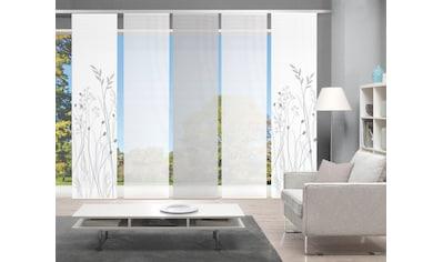 Vision Schiebegardine »GRASIL 5er SET«, Bambus-Optik, Digital bedruckt kaufen