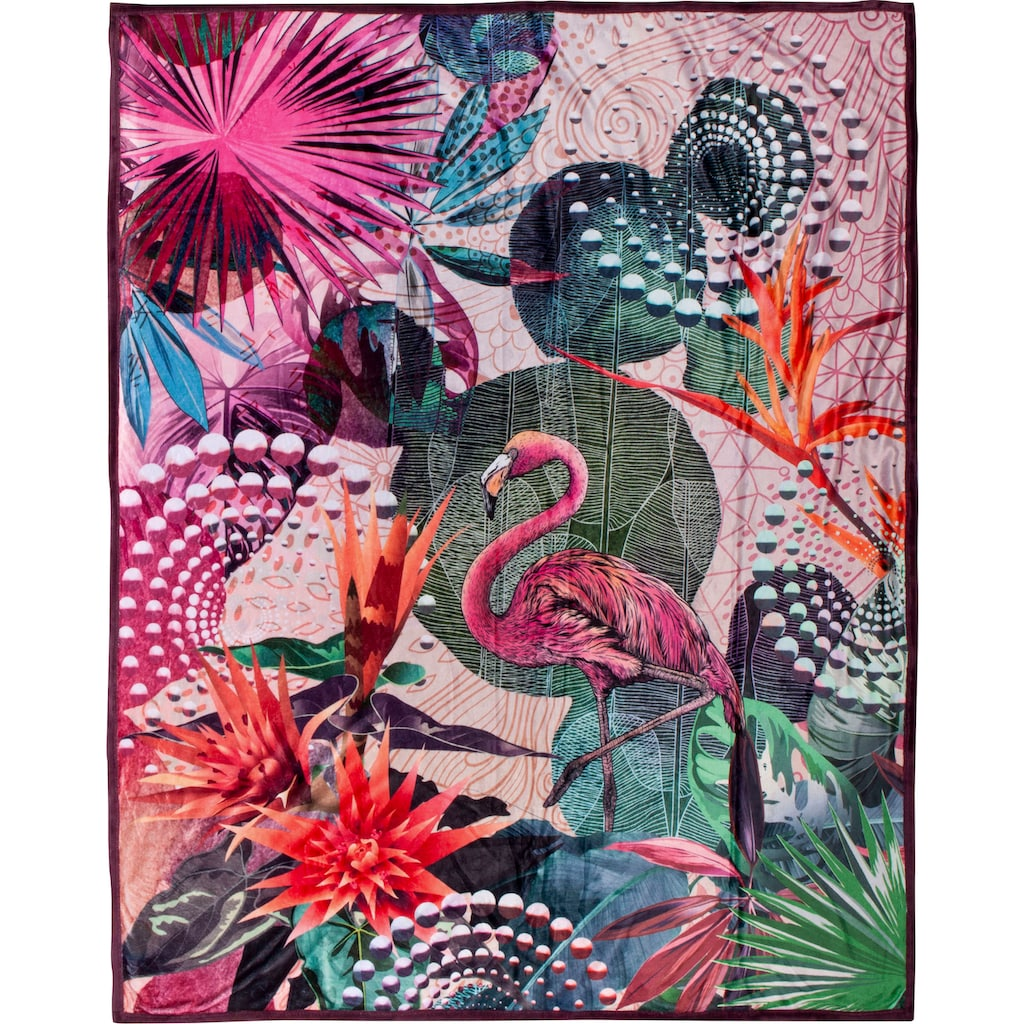 hip Plaid »Sirke«, mit Mandala und Flamingo