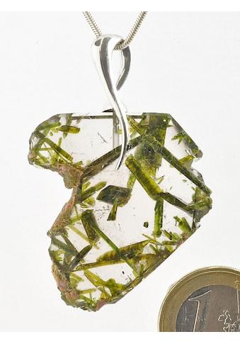 Adelia´s Kettenanhänger »Damen Schmuck Edelstein Bergkristall Anhänger 925 Silber grün« kaufen
