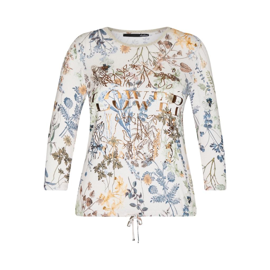 LeComte Rundhalsshirt, mit floralem Allover-Muster und 3/4-Ärmeln