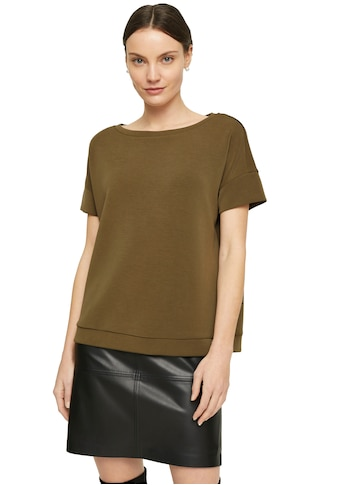 Comma Sweatshirt, aus elastischer Viskosemischung mit kurzen Ärmeln kaufen