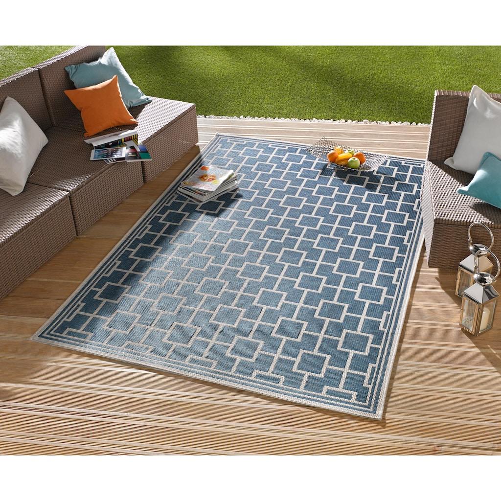 bougari Teppich »Bay«, rechteckig, 4 mm Höhe, Sisal-Optik, In- und Outdoorgeeignet, Wohnzimmer