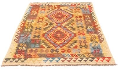 morgenland Wollteppich »Kelim Afghan Teppich handgewebt mehrfarbig«, rechteckig, 4 mm... kaufen