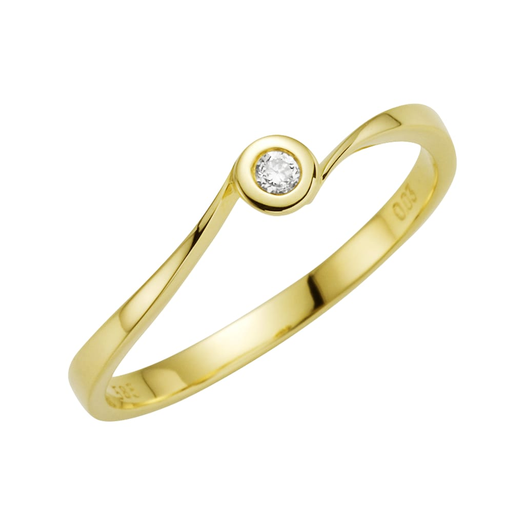 Orolino Goldring »585/- Gelbgold Brillant«