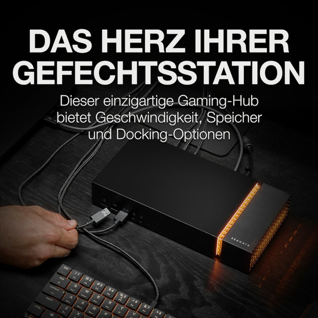 Seagate externe Gaming-SSD »FireCuda Gaming Dock«, Inklusive 3 Jahre Rescue Data Recovery Services