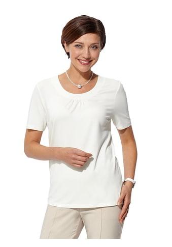 Casual Looks Shirt mit Raffung am Ausschnitt kaufen