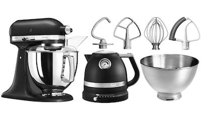KitchenAid Küchenmaschine Artisan 5KSM175PSEBK mit Gratis Wasserkocher, 2. Schüssel, Flexirührer, 300 Watt, Schüssel 4,8 Liter kaufen