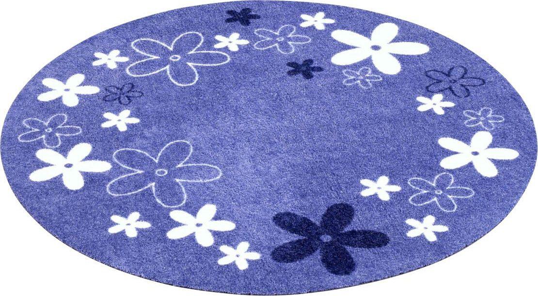Kinderteppich, »Blumen«, Zala Living, rund, Höh...