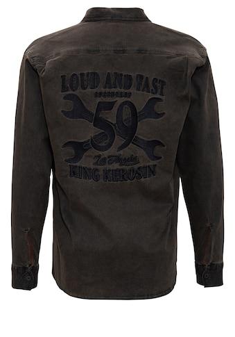 KingKerosin Langarmhemd »Loud and Fast«, im Workwear-Stil kaufen